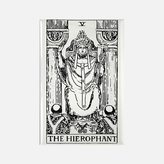The Hierophant Tarot Card Rectangle Magnet