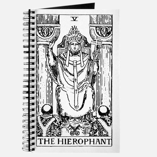 The Hierophant Tarot Card Journal