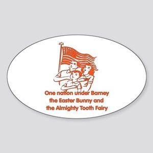 Atheist Pledge Of Allegiance Sticker (Oval)