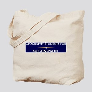 GEOGRAPHY STUDENTS for McCain Tote Bag
