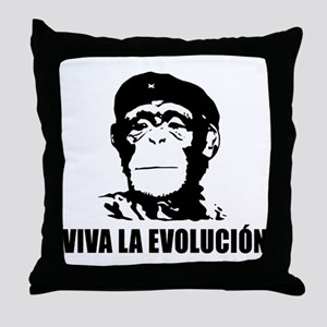 Viva La Evolucion Darwin Throw Pillow