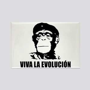 Viva La Evolucion Darwin Rectangle Magnet