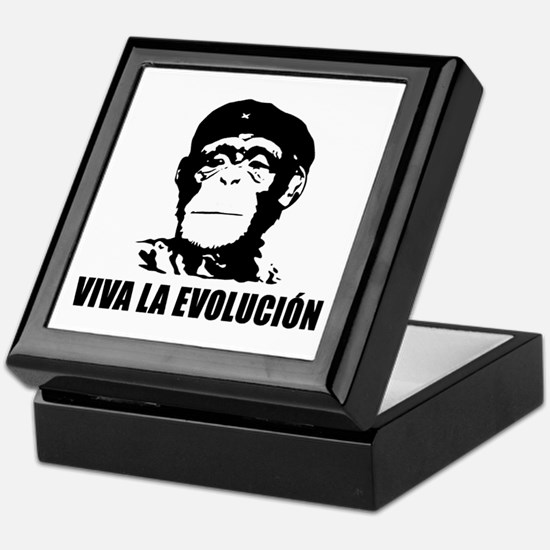 Viva La Evolucion Darwin Keepsake Box