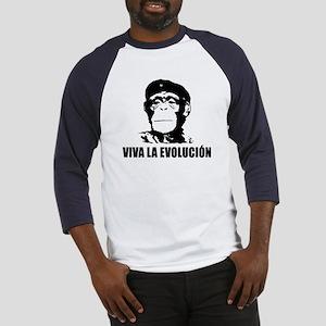 Viva La Evolucion Darwin Baseball Jersey