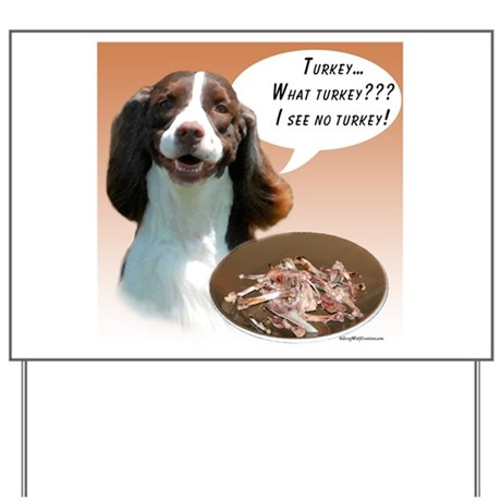 English Springer Turkey Yard Sign