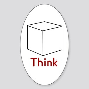 Think Outside the Box Oval Sticker