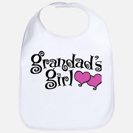 Grandad's Girl Cotton Baby Bib