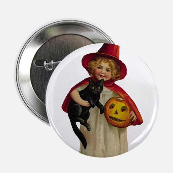 """Red Girl Witch 2.25"""" Button"""