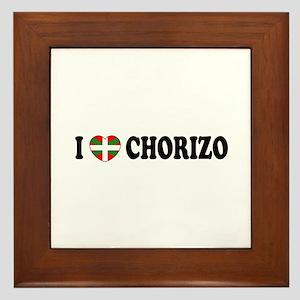 I Heart Chorizo Framed Tile