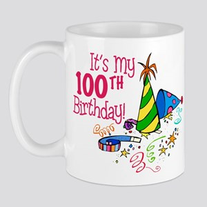It's My 100th Birthday (Party Hats) Mug