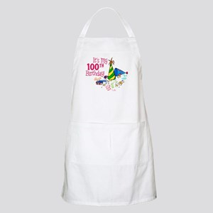 It's My 100th Birthday (Party Hats) BBQ Apron