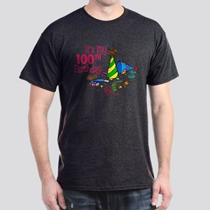 It's My 100th Birthday (Party Hats) Dark T-Shirt