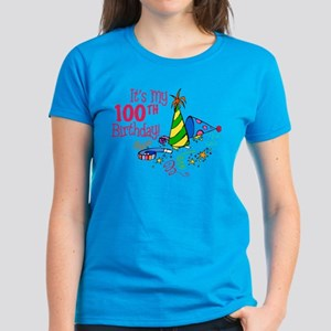 It's My 100th Birthday (Party Hats) Women's Dark T