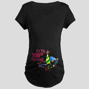 It's My 100th Birthday (Party Hats) Maternity Dark