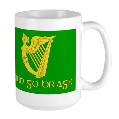 Erin Go Bracg Flag Large Mug