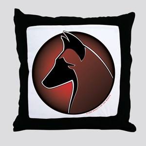 Red Sun Malinois Throw Pillow