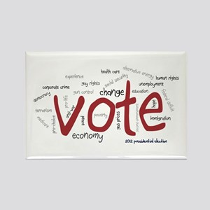 Vote the Issues Rectangle Magnet