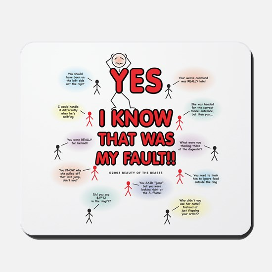 Yes, I Know That Was My Fault! Mousepad