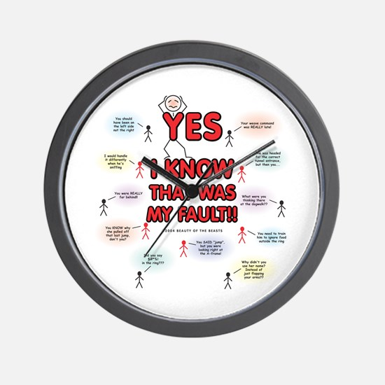 Yes, I Know That Was My Fault! Wall Clock