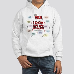 Yes, I Know That Was My Fault! Hooded Sweatshirt
