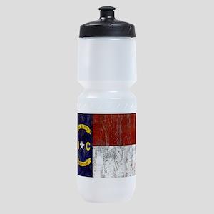 North Carolina Flag Sports Bottle