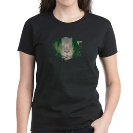 Nigeria Flag & African Lion Picture T-Shirt