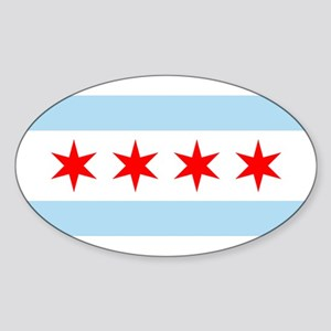 Chicago Oval Sticker