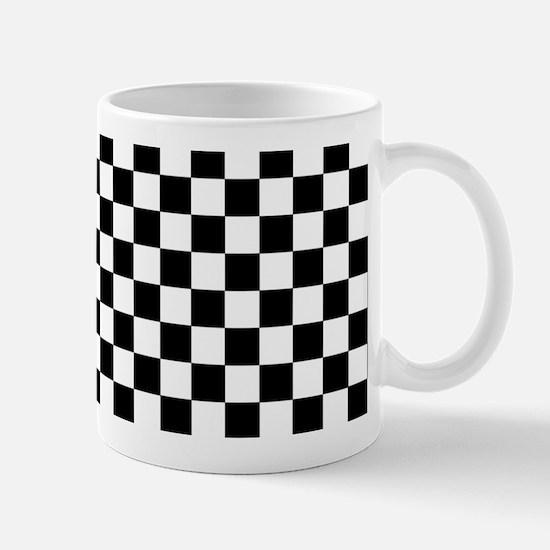 Black White Checkered Mugs