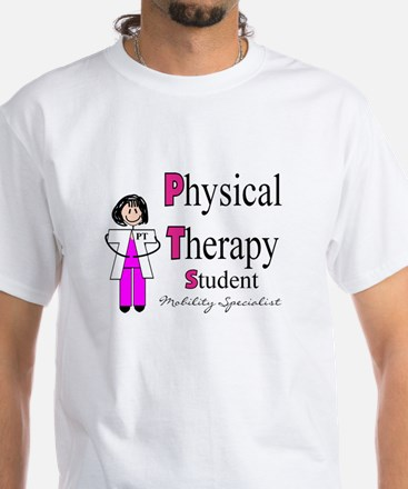 Physical Therapy White T-Shirt