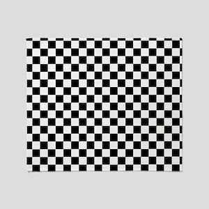 Black White Checkered Throw Blanket