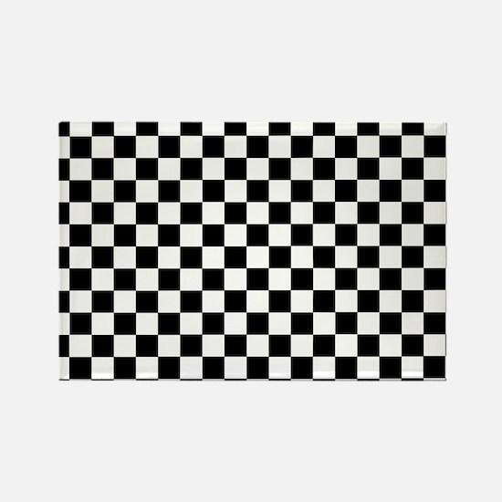 Black White Checkered Magnets