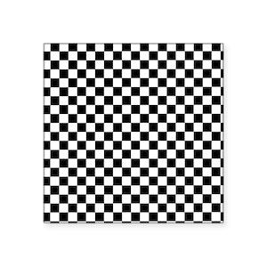 Black White Checkered Square Stickers Cafepress