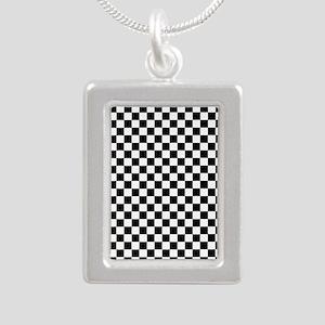 Black White Checkered Necklaces