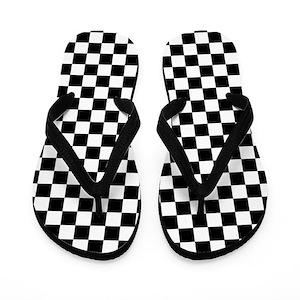 Black And White Checkered Flip Flops Cafepress