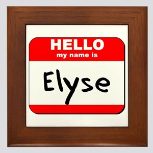 Hello my name is Elyse Framed Tile