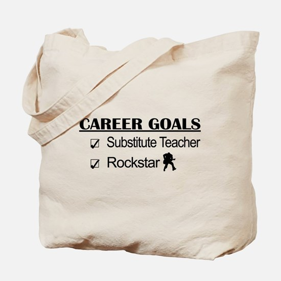 Substitute Teacher Career Goals - Rockstar Tote Ba