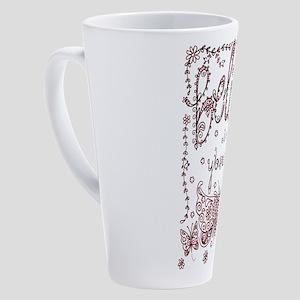 Believe in Yourself 17 oz Latte Mug