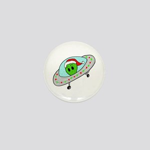 UFO Santa Alien Mini Button