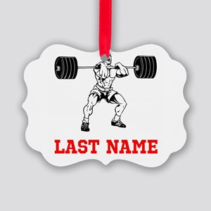 Weight Lifting Ornament