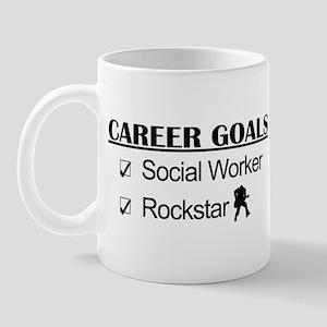 Social Worker Career Goals - Rockstar Mug
