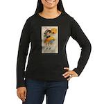 Girl With Pumpkin Women's Long Sleeve Dark T-Shirt