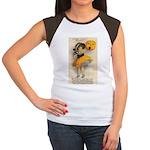Girl With Pumpkin Women's Cap Sleeve T-Shirt