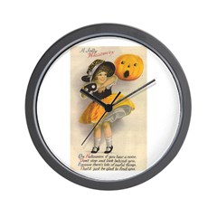 Girl With Pumpkin Wall Clock