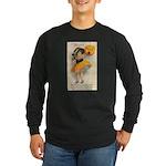 Girl With Pumpkin Long Sleeve Dark T-Shirt