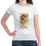 Girl With Pumpkin Jr. Ringer T-Shirt