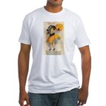 Girl With Pumpkin Fitted T-Shirt