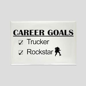 Trucker Career Goals - Rockstar Rectangle Magnet
