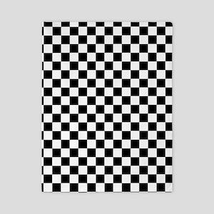 Black White Checkered Twin Duvet Cover