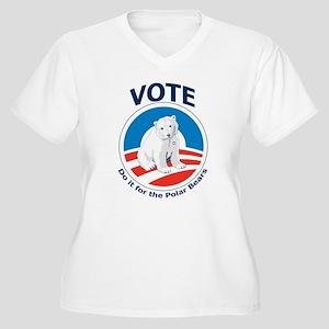 Vote - Do it For Polar Bears Women's Plus Size V-N
