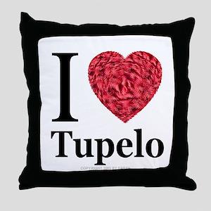 I Love Tupelo Throw Pillow